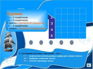 1. Способ представления чисел и соответствующие ему правила действия над числ