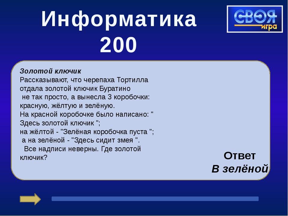 Информатика 400 В табличке приведено слово, связанное с информатикой и компь...