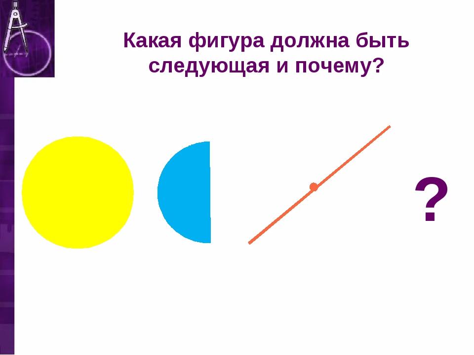 ? Какая фигура должна быть следующая и почему?
