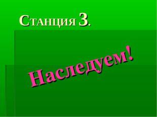 СТАНЦИЯ 3. Наследуем!