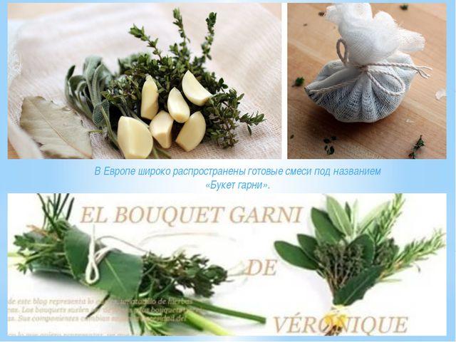 В Европе широко распространены готовые смеси под названием «Букет гарни».