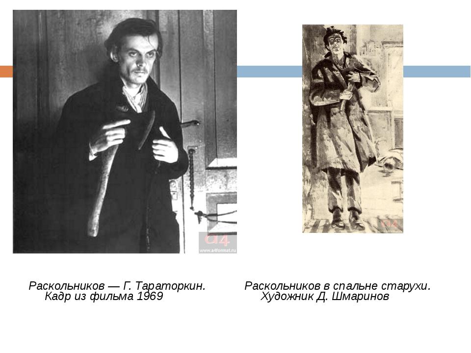 Раскольников — Г. Тараторкин. Кадр из фильма 1969 Раскольников в спальне стар...