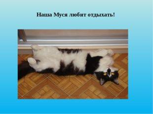 Наша Муся любит отдыхать!