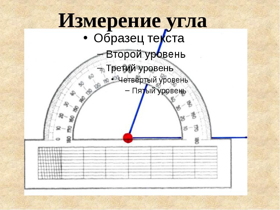 Измерение угла