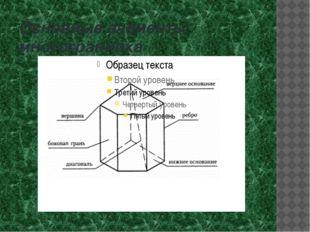 Основные элементы многогранника