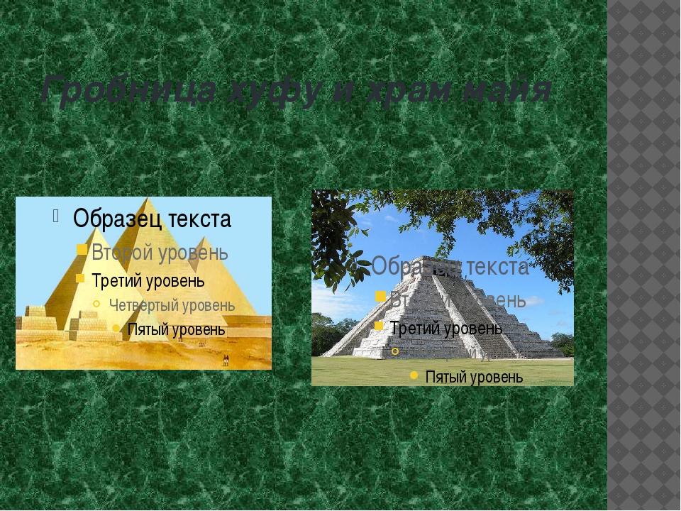 Гробница хуфу и храм майя
