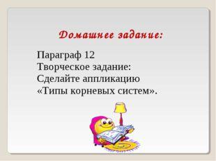 Домашнее задание: Параграф 12 Творческое задание: Сделайте аппликацию «Типы к