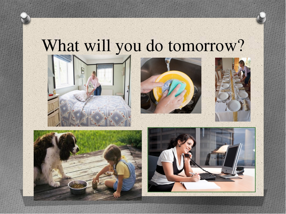 What will you do tomorrow?