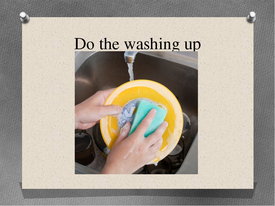 Do the washing up