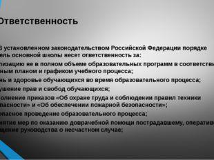 6. Ответственность 6.1. В установленном законодательством Российской Федераци