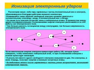 Ионизация электронным ударом Рассмотрим какую- либо пару заряженных частиц (п