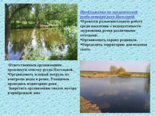 Предложения по экологической реабилитации реки Нагольной Провести разъяснител