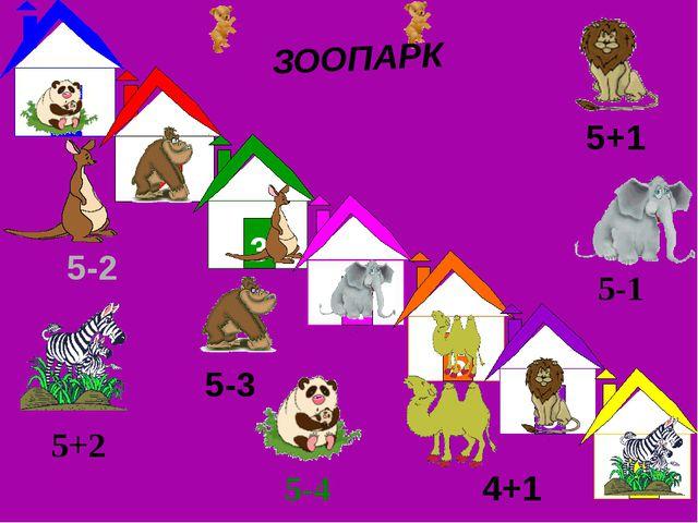 5-2 5+1 5-4 5-1 5-3 4+1 5+2 ЗООПАРК 1 2 3 4 5 6 7
