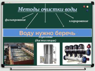 Методы очистки воды фильтрование хлорирование озонирование отстаивание перего