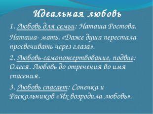 Идеальная любовь 1. Любовь для семьи: Наташа Ростова. Наташа- мать. «Даже душ