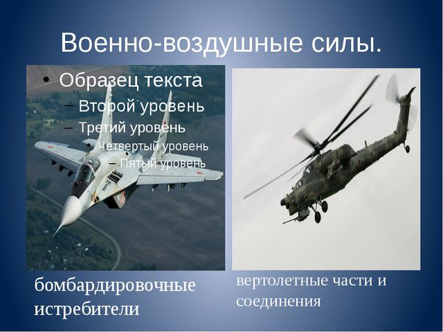 Военно-воздушные силы. бомбардировочные истребители вертолетные части и соеди...