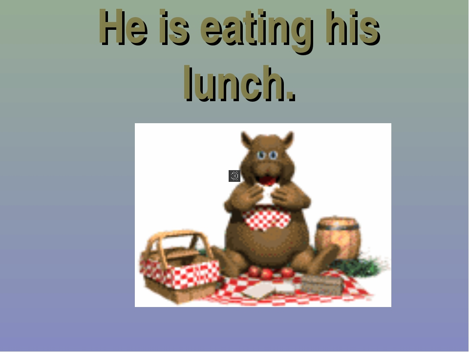 He is eating his lunch.