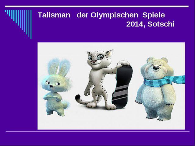 Talisman der Olympischen Spiele 2014, Sotschi