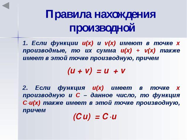 Производная сложной функции (f(g(x)))′ = f′(g(x))∙g′(x) Примеры: 1. ((5x – 3)...