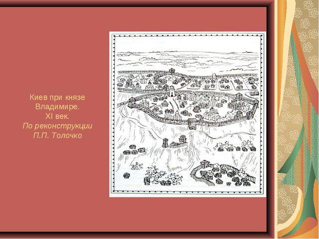 Киев при князе Владимире. XI век. По реконструкции П.П. Толочко