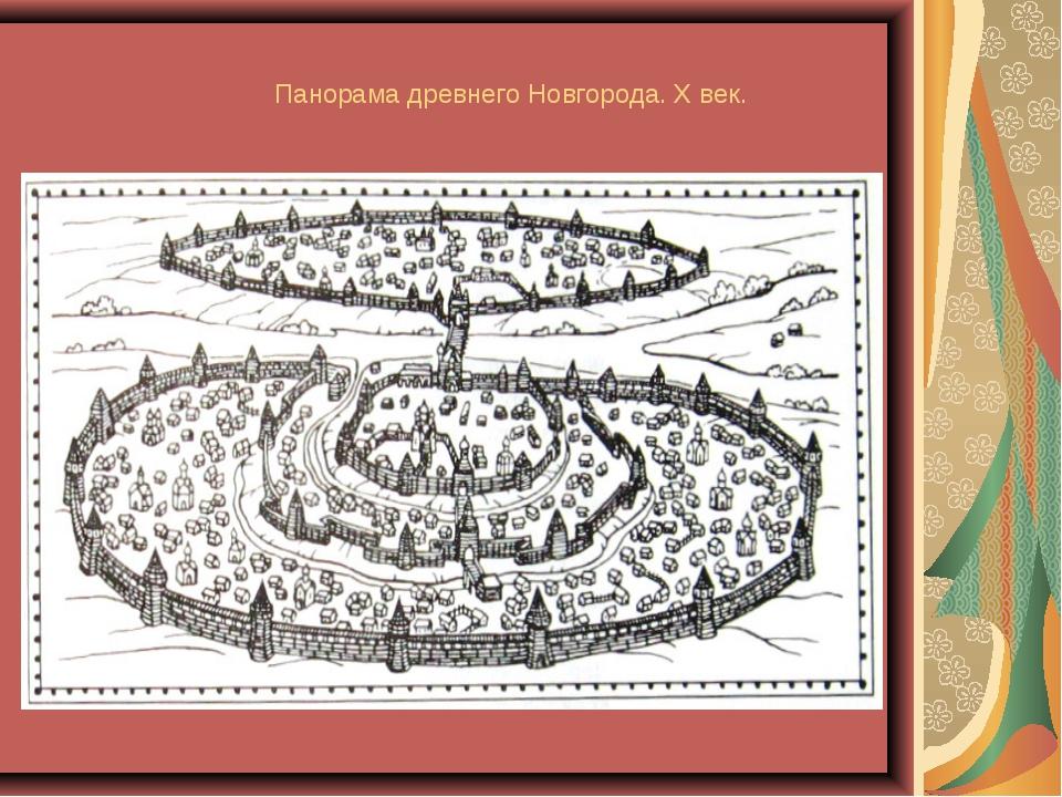 Панорама древнего Новгорода. X век.