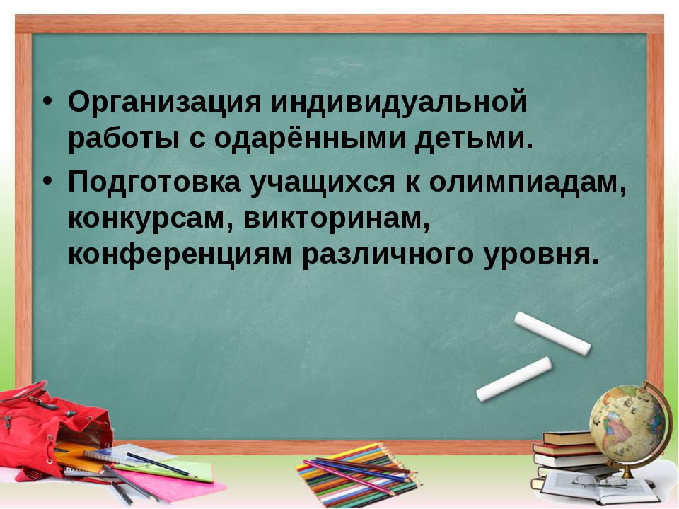 Организация индивидуальной работы с одарёнными детьми. Подготовка учащихся к...