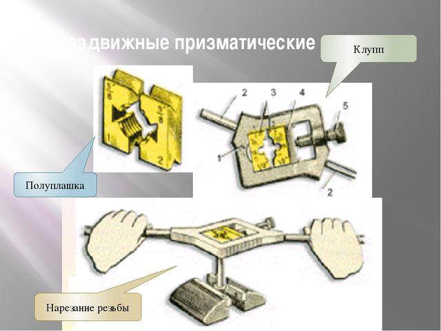 Раздвижные призматические плашки Полуплашка Нарезание резьбы Клупп