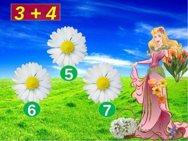 3 + 4 7