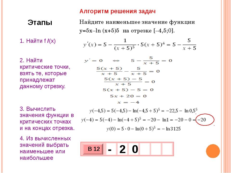 -3; ) 3 наименьшее значение функции