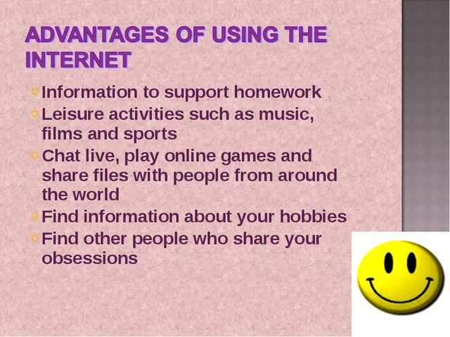 Information to support homework Leisure activities such as music, films and s...