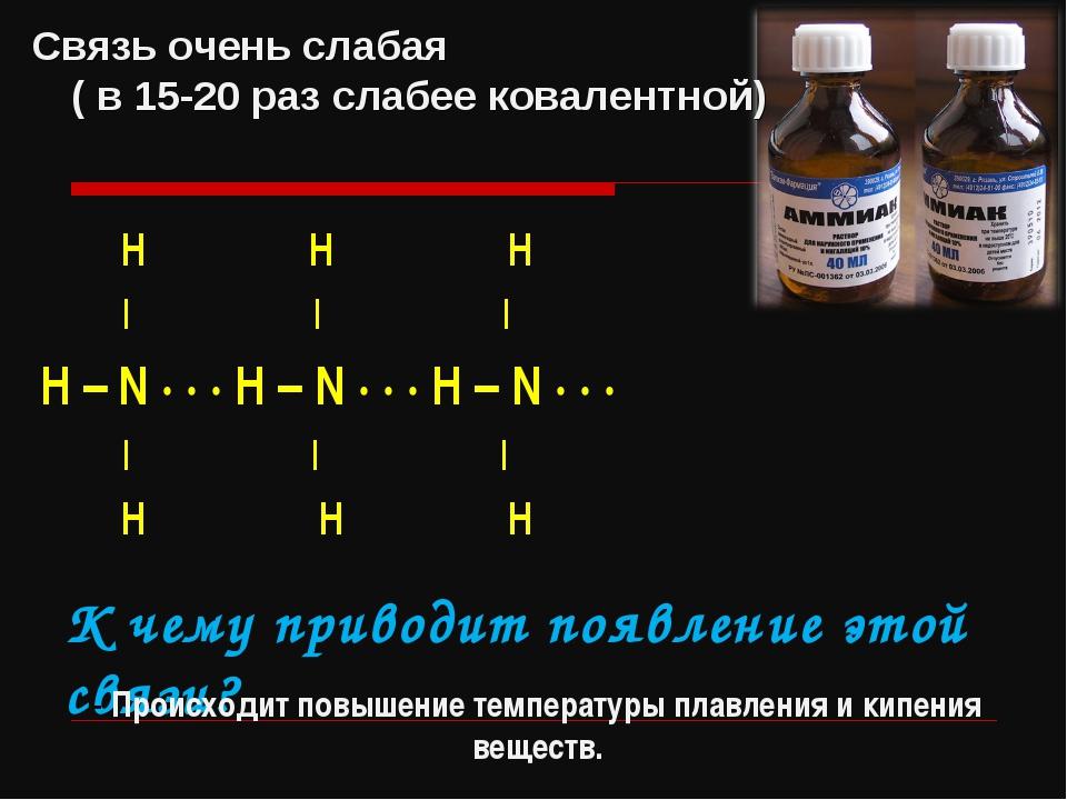 H H H | | | Н – N · · · H – N · · · H – N · · · | | | H H H К чему приводит...