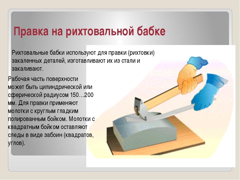Правка на рихтовальной бабке Рабочая часть поверхности может быть цилиндричес...