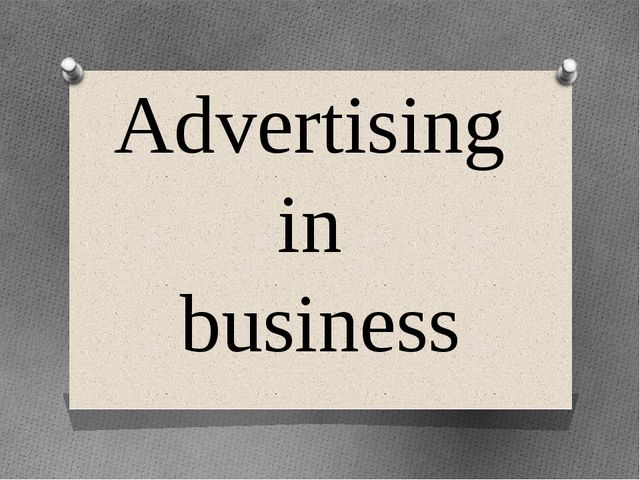 Advertising in business