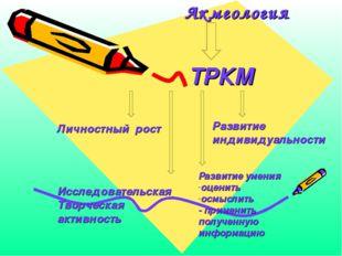Акмеология ТРКМ Личностный рост Развитие индивидуальности Исследовательская Т