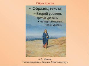 Образ Христа А.А.Иванов Эскиз ккартине«ЯвлениеХристанароду»