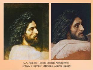 А.А.Иванов «Голова Иоанна Крестителя». Этюдыккартине «Явление Христа нар