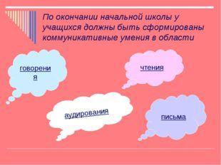 По окончании начальной школы у учащихся должны быть сформированы коммуникатив
