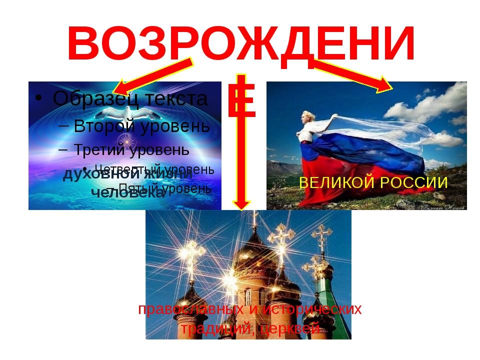 духовной жизни человека православных и исторических традиций, церквей ВЕЛИКОЙ...
