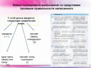 Важно познакомить школьников со средствами проверки правильности написанного