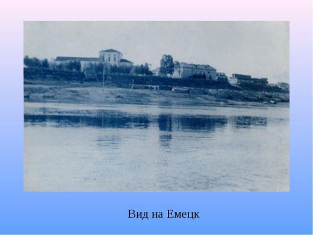 Вид на Емецк