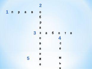 1 2 3 4 5 право б р а з о в а н и е абота   и