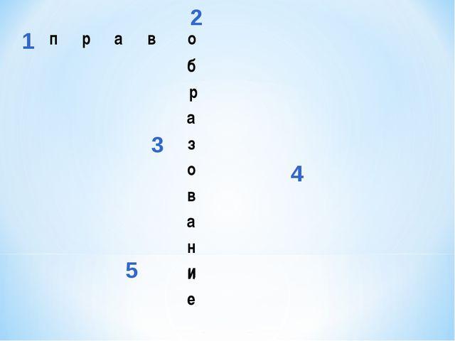 1 2 3 4 5 право б р а з о в а н и е  и