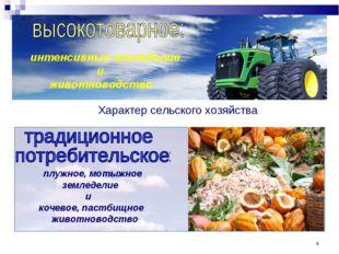 * интенсивные земледелие и животноводство плужное, мотыжное земледелие и коче