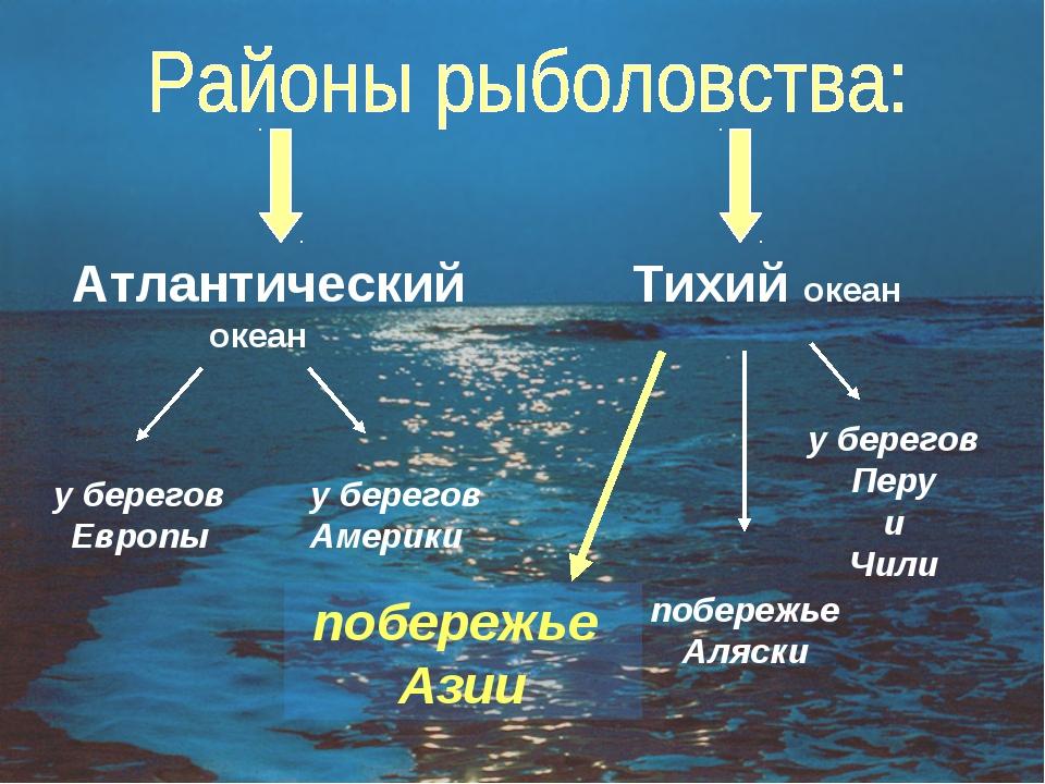Атлантический океан Тихий океан у берегов Европы у берегов Америки побережье...
