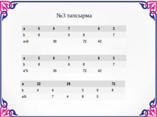 №3 тапсырма а56763 b8687 a*b367242 а56763 b8687