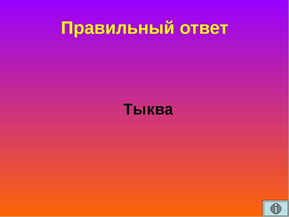 Правильный ответ Тыква
