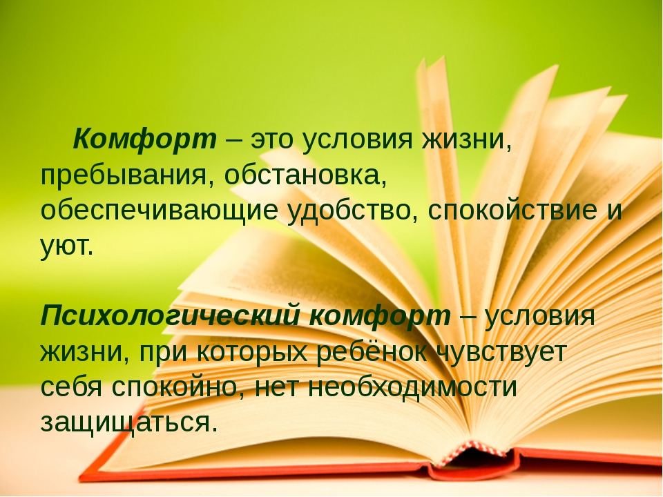 Комфорт – это условия жизни, пребывания, обстановка, обеспечивающие удобство...