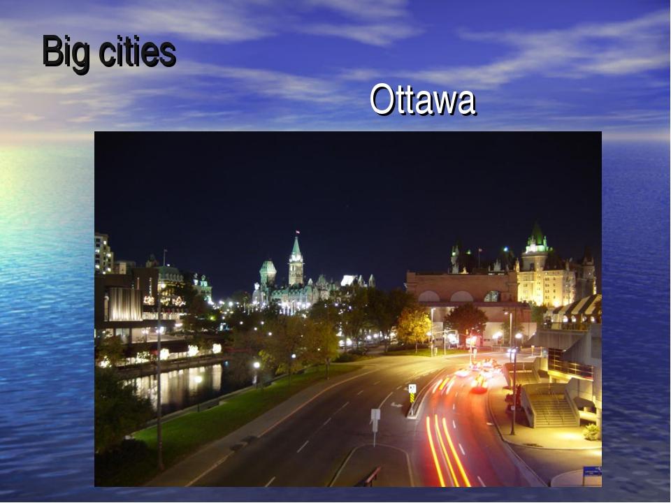 Big cities Ottawa