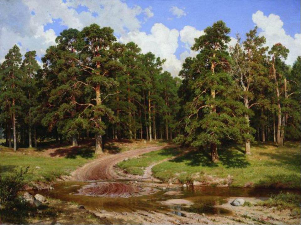 Шишкин - Сосновый бор. Мачтовый лес в Вятской губернии