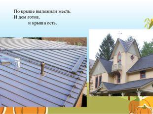 По крыше выложили жесть. И дом готов, и крыша есть.